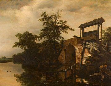 Die Schleuse, Jacob Isaaksz. van Ruisdael