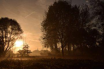 Dorpje in de mist... von Maarten Honinx