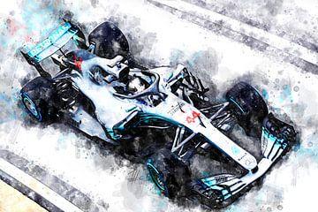 Lewis Hamilton, Mercedes, 2018 von Theodor Decker