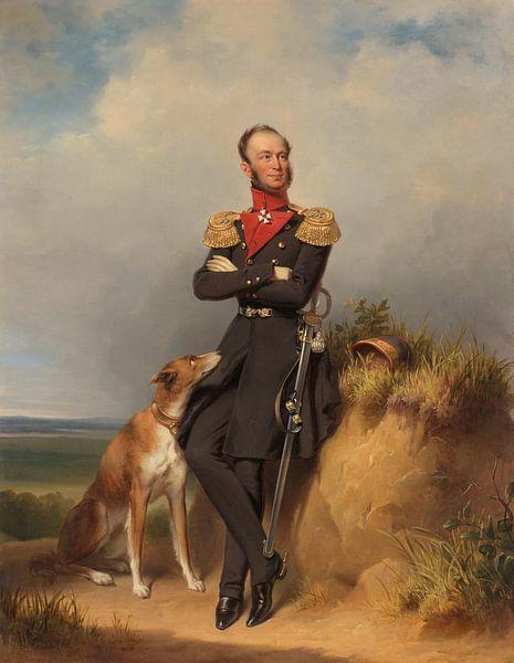 Porträt von Willem II, König der Niederlande, Jan Adam Kruseman von Meesterlijcke Meesters