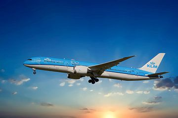 KLM Boeing 787-9, reg. PH-BHD, Bougainvillaea von Gert Hilbink