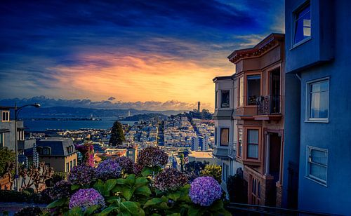 San Francisco zonsondergang van Rolf Linnemeijer