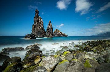 Schwarze Felsen an der Küste für Madeira von Arthur Scheltes