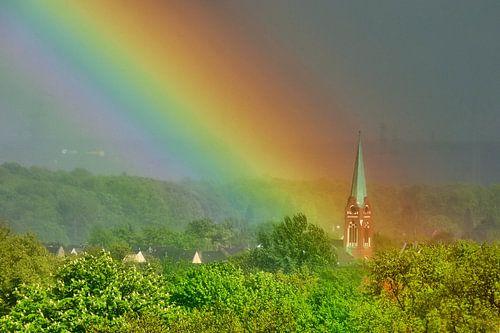 Regenbogen 2 van Edgar Schermaul