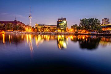 Berlijnse nacht van Johan Vanbockryck