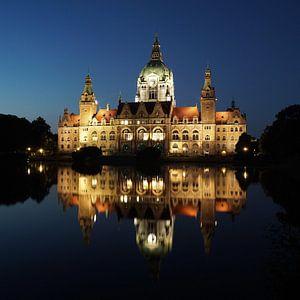 Neues Rathaus in Hannover bei Nacht von Axel Bückert