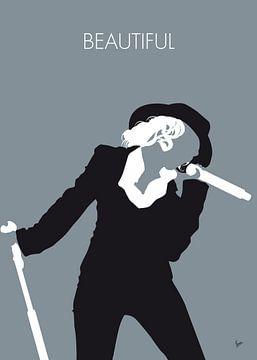 No147 MY Christina Aguilera Minimal Music poster van Chungkong Art