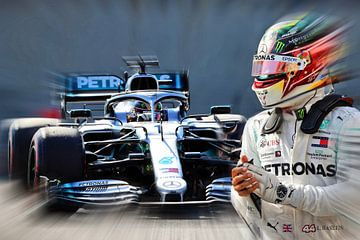 Wereldkampioen LH44 anno 2019 - Lewis Hamilton van Jean-Louis Glineur alias DeVerviers