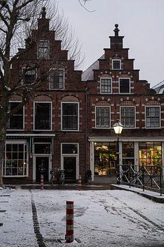 Der erste Schnee in Oudewater von Manuuu S