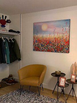 Kundenfoto: Malerei Blumenfeld von Bianca ter Riet