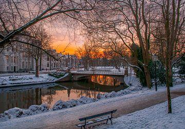 Maliesingel in de sneeuw van Verliefd op Utrecht
