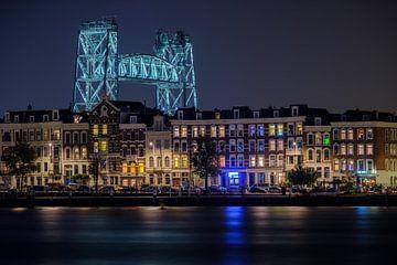 Avondfoto De Hef en het Noordereiland in Rotterdam van