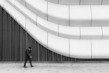 Gerade und gebogene Linien der Westfield Mall of the Netherlands von Rini Braber