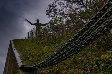 Fort bij Vechten -  Wilgenbeeld tegen donkere lucht van Wout van den Berg