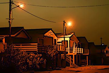 La nuit en Gruissan von Raymond Borghardt