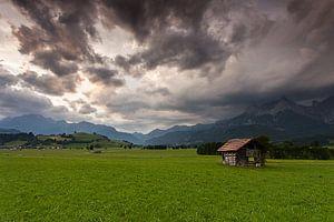 Regenwolken boven Saalfelden