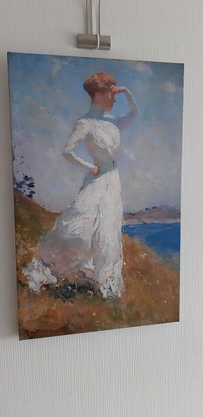 Klantfoto: Zonlicht, Frank Weston Benson, op canvas