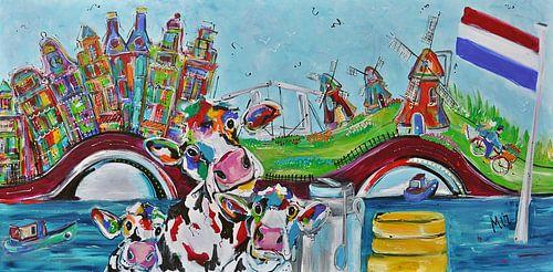 -Typisch Holland Hedendaagse schilderkunst van Kunstenares Mir Mirthe Kolkman van der Klip