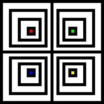 Genesteld | Compensatie | 02x02x02x02 | N=04 | V39 | RGBY van Gerhard Haberern