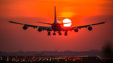 KLM cargo Boeing 747 landet von Dennis Dieleman
