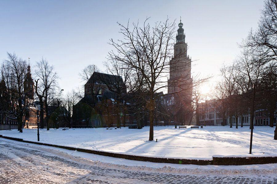 Martinikerkhof in de Winter
