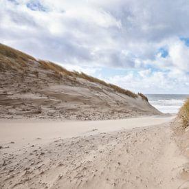 strandopgang bij een harde wind van eric van der eijk