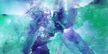 Abstracte compositie: vormen in ijs, vertrek van Annette Schmucker