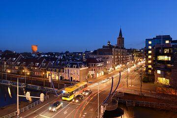 Monicabrug, Nieuwekade en St. Jacobsstraat in Utrecht von Donker Utrecht