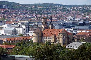 Altes Schloss - Stuttgart Panorama van Yven Dienst