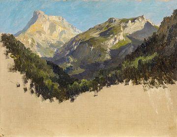 Carlos de Haes-Alpengebied, steenbergen, Antiek landschap