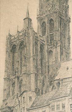 kathedraal van Antwerpen, Jules De Bruycker, ca 1929 van Atelier Liesjes
