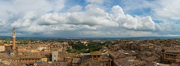 Siena Toskana Italien Panoramablick von Robbert De Reus