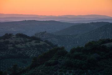 Zonsondergang in Jaén sur Martijn Smeets