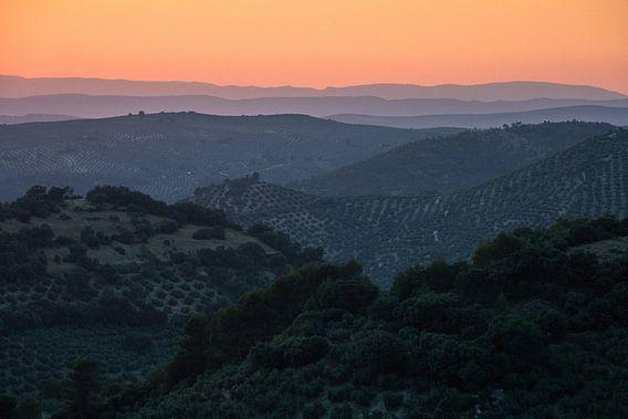Zonsondergang in Jaén van Martijn Smeets