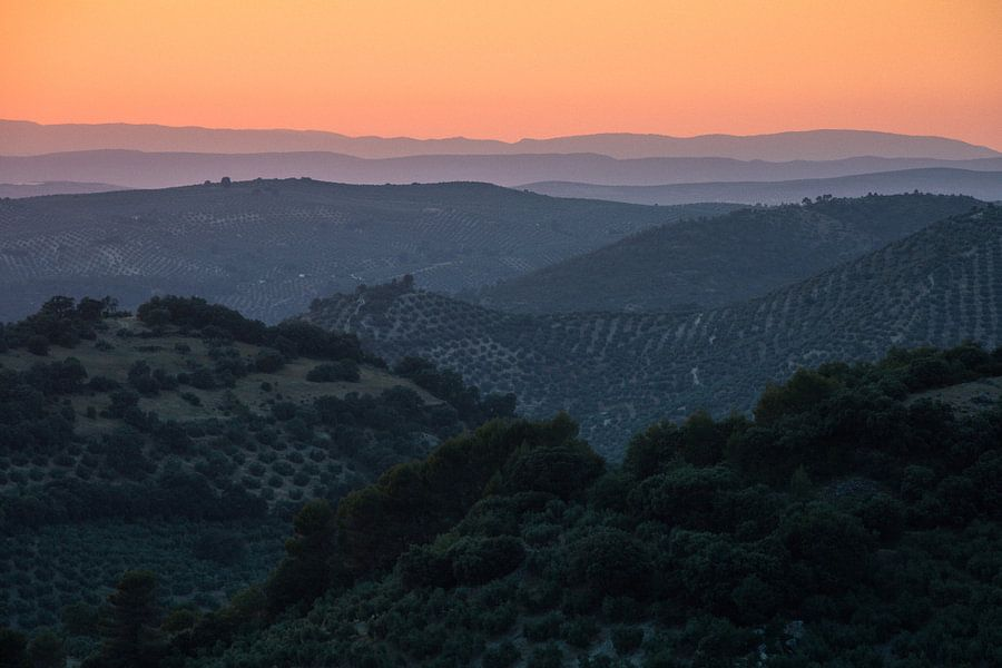 Zonsondergang in Jaén