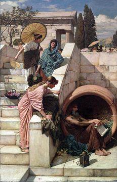 John Waterhouse - Diogenes van 1000 Schilderijen