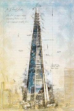 The Shard, Londen van Theodor Decker