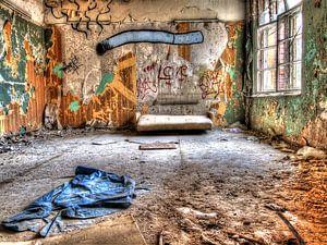 Zimmer im verlassenen alten Sanatorium