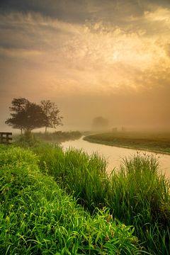 Mist boven de sloot van Ard Jan Grimbergen