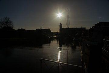 Evening by Willemstad (Nld)  van Abra van Vossen