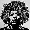 Motiv Porträt Jimi Hendrix Rockstar 1  Edding Action van Felix von Altersheim thumbnail