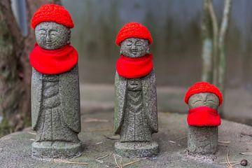 Japanse monniken beeldjes van Joost Potma