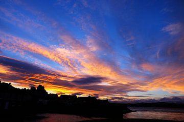 Schotland, zonsondergang bij Newport-on-Tay van Marian Klerx