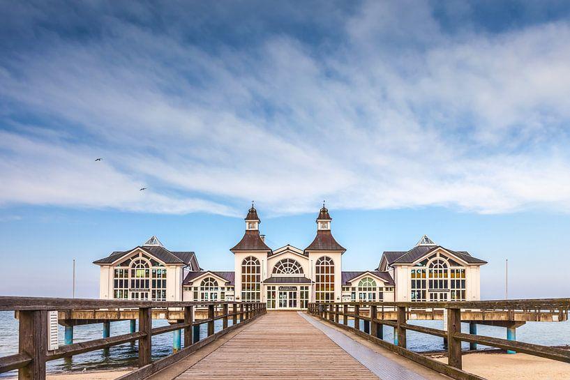 Pier van Sellin op het eiland Rügen, Oostzee van Christian Müringer