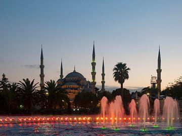 Blaue Moschee Istanbul Türkei von Sjoerd van der Wal