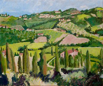 Landschaft Carmignano Toskana Italien von Antonie van Gelder