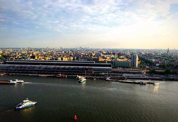 Skyline Amsterdam - Stadsgezicht 2016 van Wouter Mesker