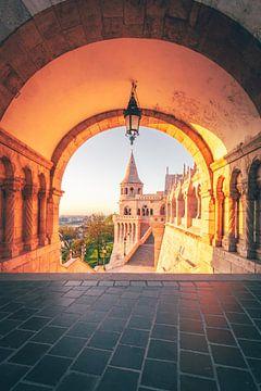 Hongarije Vissersbastion in het ochtendlicht van Jan Wehnert