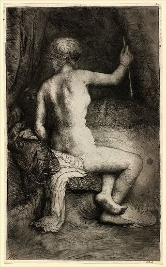 Rembrandt van Rijn, Vrouw met de pijl