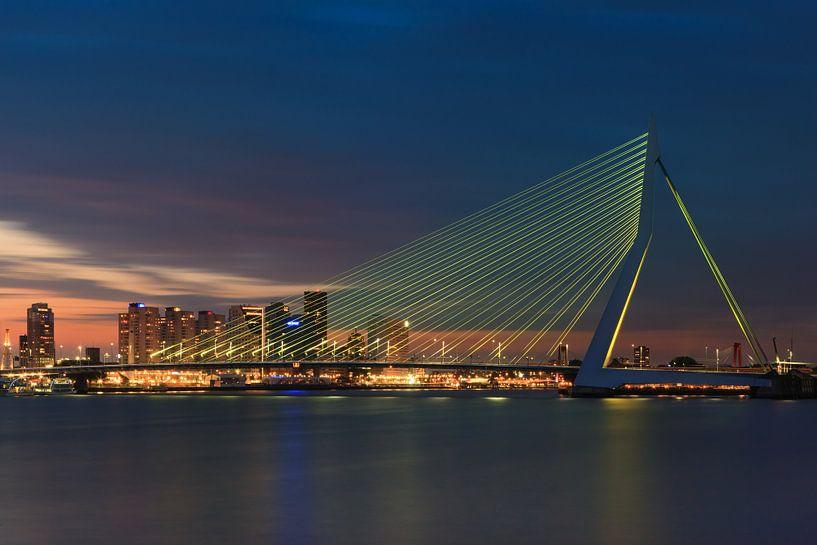 Erasmus bridge - Rotterdam - Netherlands van Henk Meijer Photography
